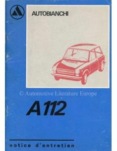 1973 AUTOBIANCHI A112 BETRIEBSANLEITUNG FRANZÖSISCH