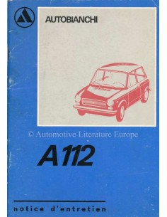 1973 AUTOBIANCHI A112 OWNERS MANUAL FRENCH