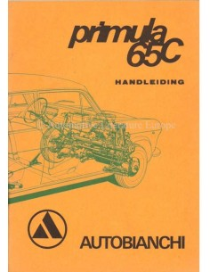 1968 AUTOBIANCHI PRIMULA 65C OWNERS MANUAL DUTCH