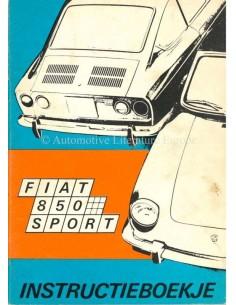 1970 FIAT 850 SPORT OWNERS MANUAL DUTCH