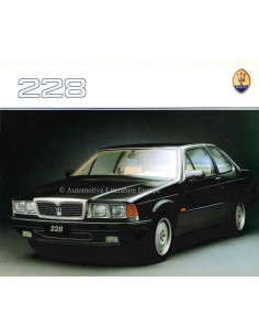 1988 MASERATI 228 BROCHURE ENGELS