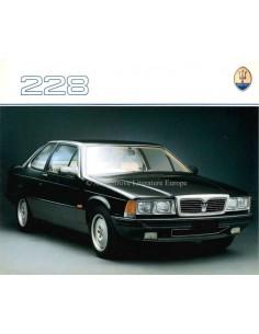 1988 MASERATI 228 BROCHURE ENGLISH