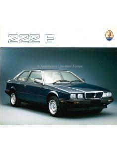 1988 MASERATI 222 E BROCHURE ENGLISH