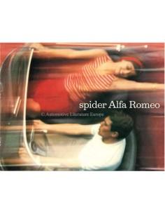 1964 ALFA ROMEO 2600 SPIDER & GUILIA SPIDER / SPIDER VELOCE PROSPEKT ENGLISCH