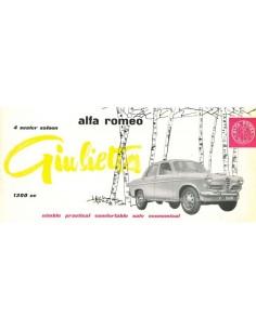 1957 ALFA ROMEO GIULIETTA LIMOUSINE PROSPEKT ENGLISCH