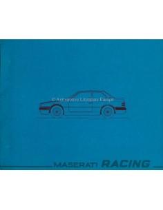 1991 MASERATI RACING BROCHURE ITALIAN