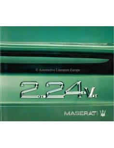 1991 MASERATI 2.24V. BROCHURE ITALIAANS