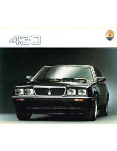 1988 MASERATI 430 BROCHURE ENGLISH