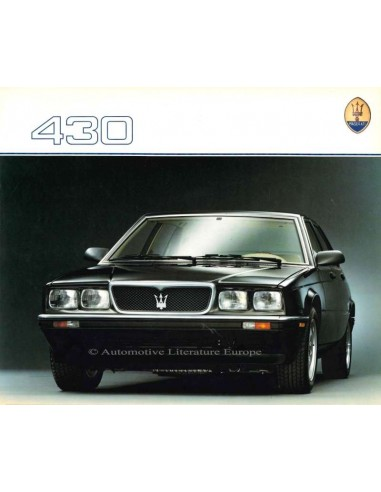 1988 MASERATI 430 BROCHURE ENGELS