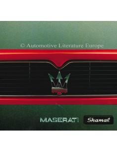 1993 MASERATI SHAMAL PROSPEKT ENGLISCH SPANISCH