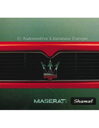 1993 MASERATI SHAMAL BROCHURE ENGLISH SPANISH