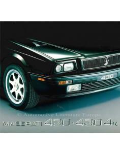 1992 MASERATI 430 - 430 4V BROCHURE ENGELS SPAANS