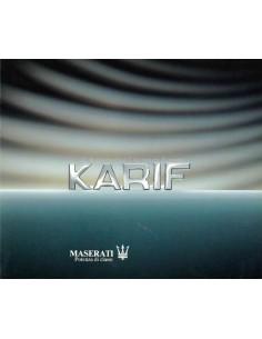 1990 MASERATI KARIF BROCHURE ITALIAANS