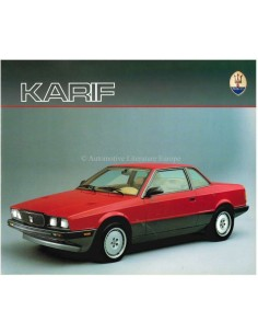 1988 MASERATI KARIF BROCHURE FRENCH