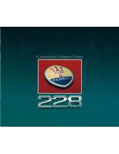 1990 MASERATI 228 BROCHURE ITALIAN