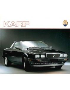 1988 MASERATI KARIF BROCHURE ENGLISH