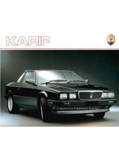 1988 MASERATI KARIF PROSPEKT ENGLISCH