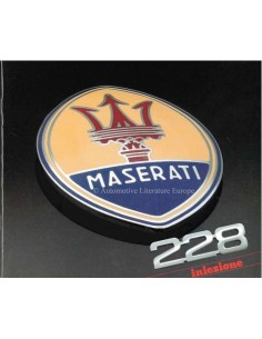 1988 MASERATI 228 INIEZIONE PROSPEKT ITALIENISCH