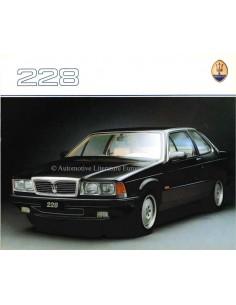 1988 MASERATI 228 BROCHURE ENGLISH FRENCH GERMAN