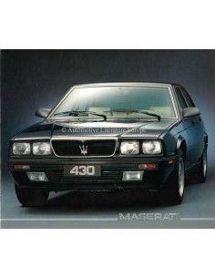 1989 MASERATI 430 BROCHURE GERMAN