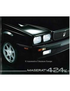 1992 MASERATI 4.24V BROCHURE ITALIAANS