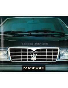 1984 MASERATI RANGE BROCHURE ITALIAN