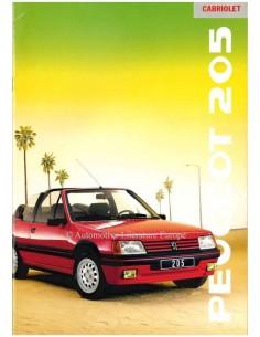 1989 PEUGEOT 205 CABRIO BROCHURE NEDERLANDS