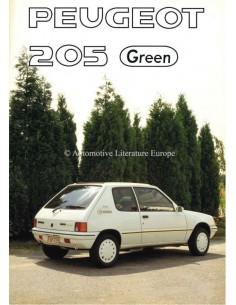 1990 PEUGEOT 205 GREEN BROCHURE DUTCH