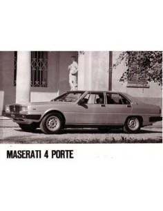 1983 MASERATI QUATTROPORTE III PRESS PHOTO