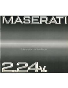 1990 MASERATI 2.24V. BROCHURE ITALIAN