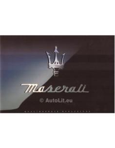 1998 MASERATI QUATTROPORTE IV EVOLUZIONE BROCHURE ENGLISH