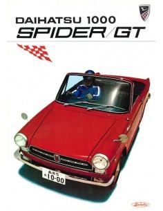 1968 DAIHATSU 1000 SPIDER / GT BROCHURE ENGELS