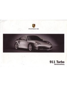 2003 PORSCHE 911 TURBO OWNERS MANUAL HANDBOOK GERMAN