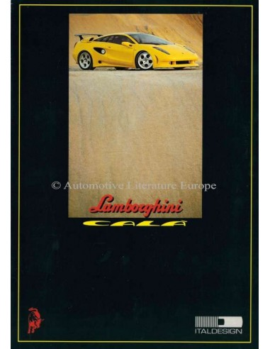 1995 LAMBORGHINI CALÀ BROCHURE ENGLISH