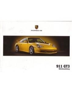 2003 PORSCHE 911 GT3 INSTRUCTIEBOEKJE DUITS