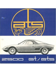 1963 ATS 2500 GT / GTS BROCHURE FRENCH