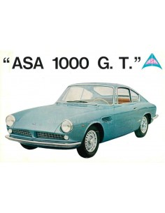 1962 ASA 1000 G.T. COUPE LEAFLET FRENCH