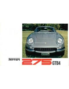 1966 FERRARI 275 GTB4 BROCHURE 13/66