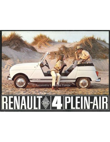 1968 RENAULT 4 PLEIN-AIR BROCHURE FRENCH