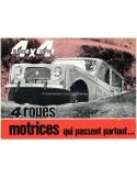 1963 RENAULT 4 4X4 SINPAR BROCHURE FRENCH