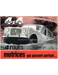 1963 RENAULT 4 4X4 SINPAR BROCHURE FRENCH
