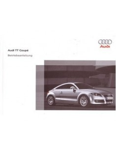 2006 AUDI TT COUPE OWNERS MANUAL HANDBOOK GERMAN