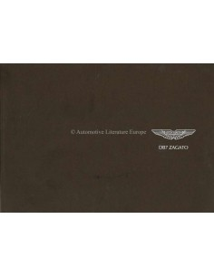 2003 ASTON MARTIN DB7 ZAGATO BROCHURE ENGLISH