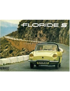 1963 RENAULT FLORIDE S BROCHURE FRENCH