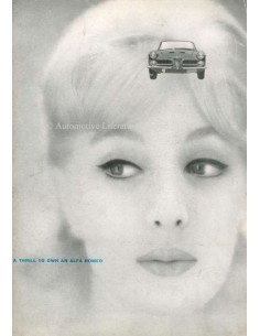 1961 ALFA ROMEO 2000 SPIDER BROCHURE ENGLISH