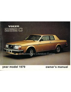 1979 VOLVO 262 C OWNERS MANUAL ENGLISH