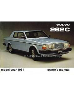 1981 VOLVO 262 C BETRIEBSANLEITUNG ENGLISCH