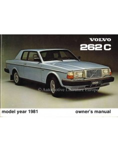1981 VOLVO 262 C OWNERS MANUAL ENGLISH
