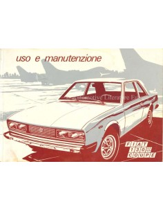 1975 FIAT 130 COUPE OWNERS MANUAL ITALIAN