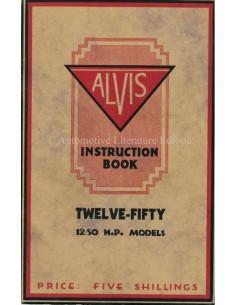 1928 ALVIS 12/50 INSTRUCTIEBOEKJE ENGELS
